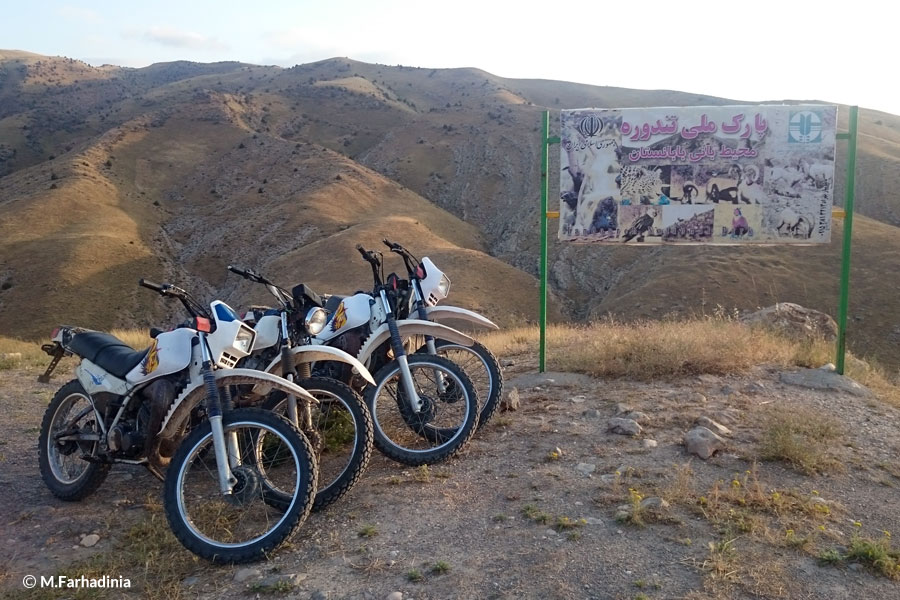 Motorbikes in leopard mountains
